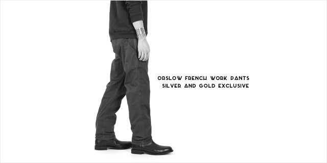 orSlow French Work Pants Silver and Gold Exclusive