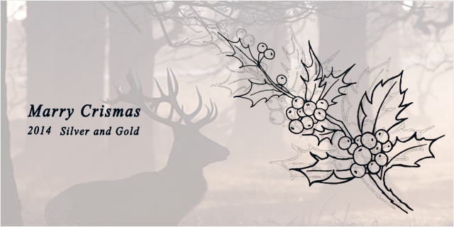 Merry Chrismas 2014 Silver and Gold